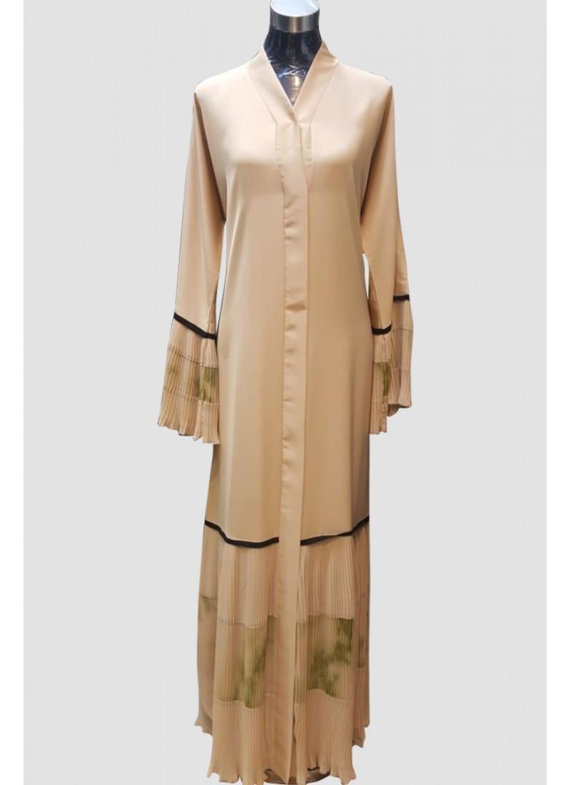 Plain Pleated Abaya