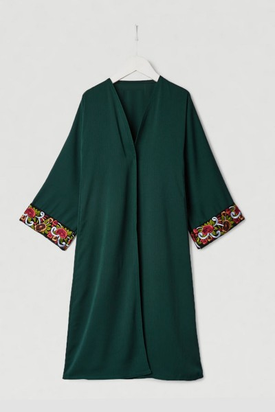 Chic Floral Abaya (12 Pieces Set)