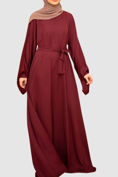 Umbrella Cut Plain Abaya