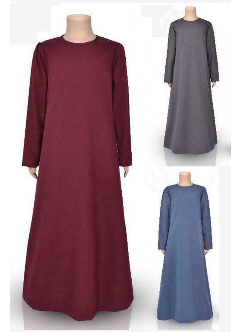 Kid's Plain Abaya (10 Pieces Set)