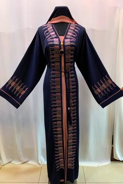 (3 Pieces Set) Glamorous Abaya