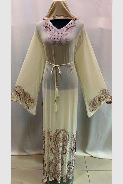 (3 Pieces Set) Anoosh Abaya