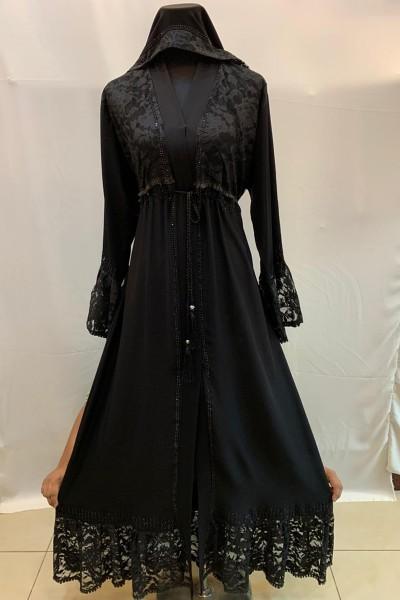 (3 Pieces Set) Fashionable Abaya