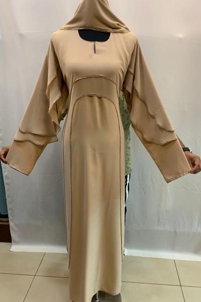 (3 Pieces Set) Elegant Abaya