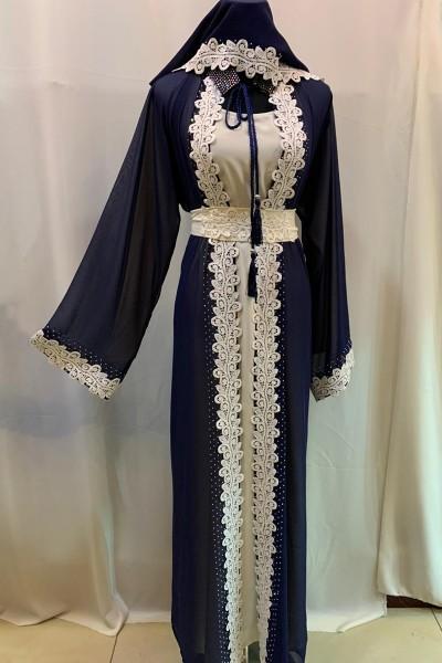 (3 Pieces Set) Royal Style Abaya