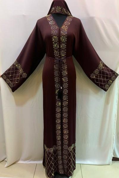 (3 Pieces Set) Designer Abaya