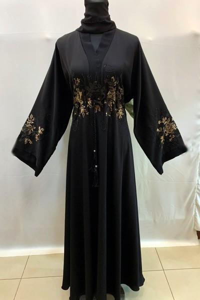 (3 Pieces Set) Dubai Abaya