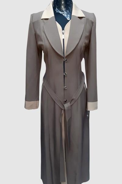 (3 Pieces Set) Appliques Coat