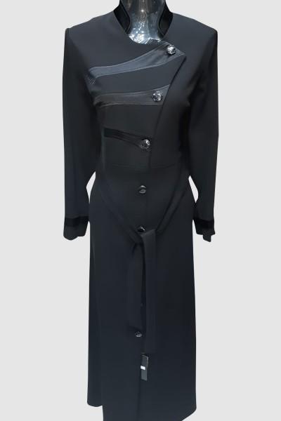 (3 Pieces Set) Simple Abaya Coat