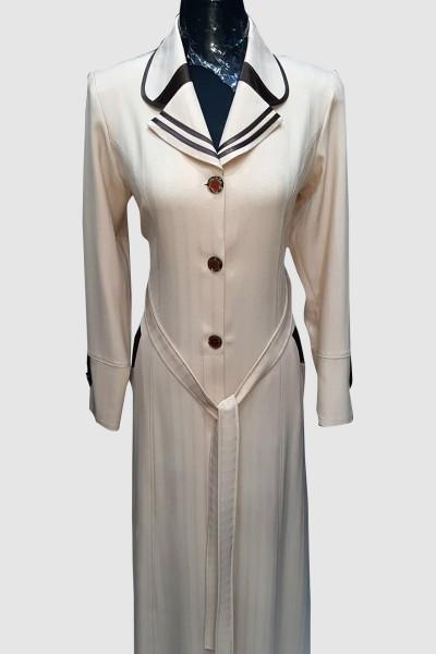 (3 Pieces Set) Classy Abaya Coat