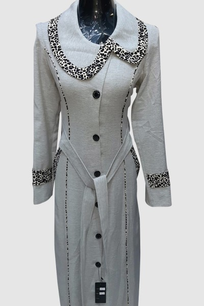 (3 Pieces Set) Islamic Abaya Coat