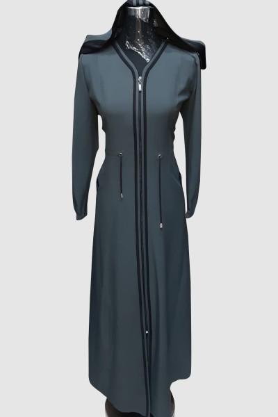 (3 Pieces Set) Trends Abaya Coat