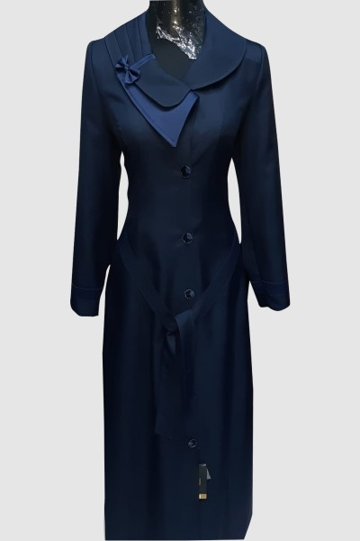 (3 Pieces Set) Bow Abaya Coat