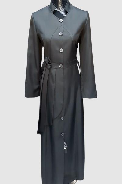 (3 Pieces Set) Formal Abaya Coat
