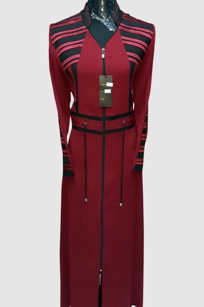 (3 Pieces Set) Couture Abaya Coat
