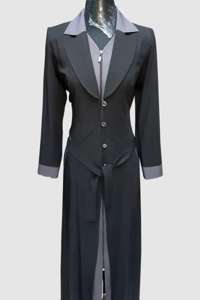 (3 Pieces Set) Arabian Abaya Coat