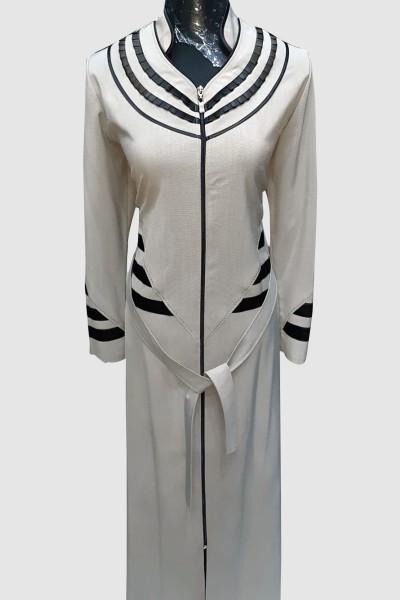(3 Pieces Set) Elegance Abaya Coat