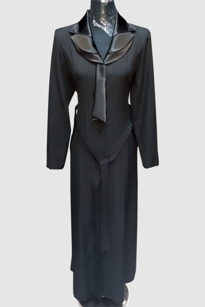 (3 Pieces Set) Classic Abaya Coat