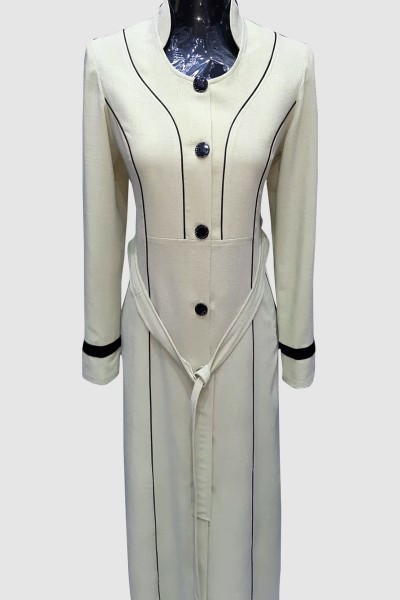 (3 Pieces Set) Warm Abaya Coat