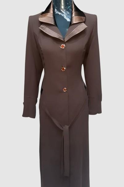 (3 Pieces Set) Amina Abaya Coat