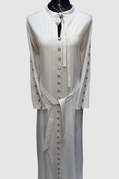 (3 Pieces Set) Amaal Abaya Coat