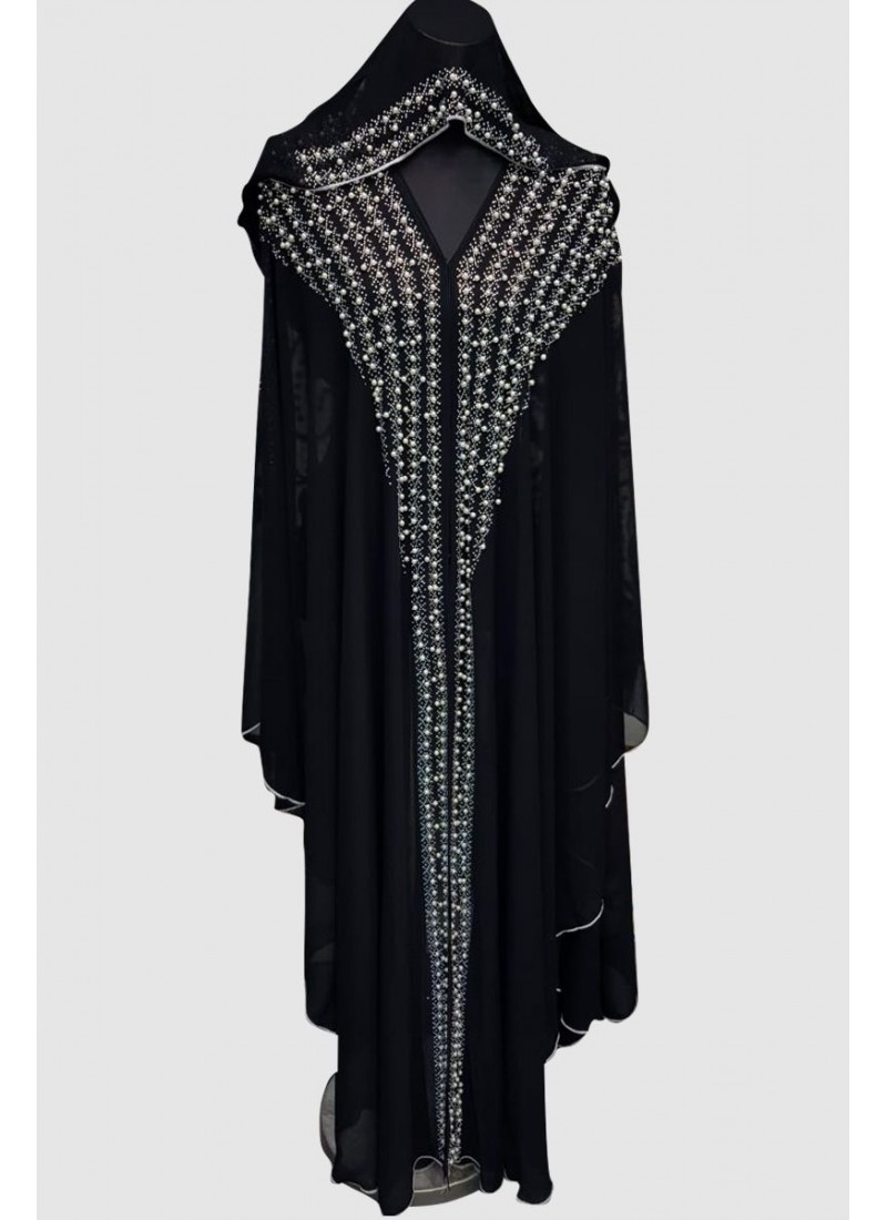 Sophisticated Aroosa Pearl Abaya