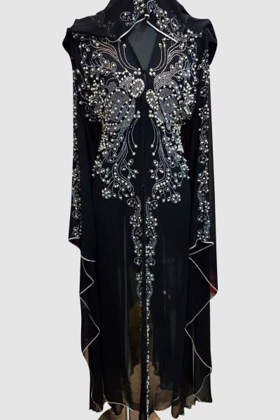 Black Modest Aroosa Abaya