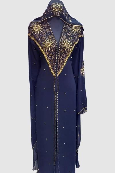 Modern Aroosa Black Abaya