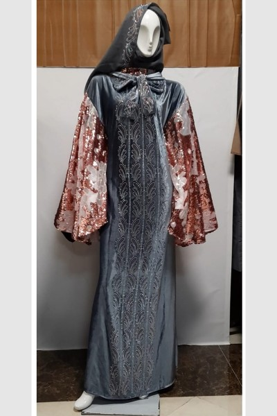 (3 Pieces Set) Butterfly Abaya