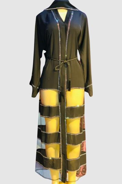 Modest Open Black Abaya