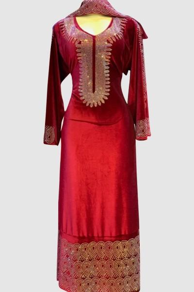 Crystal Velvet Abaya