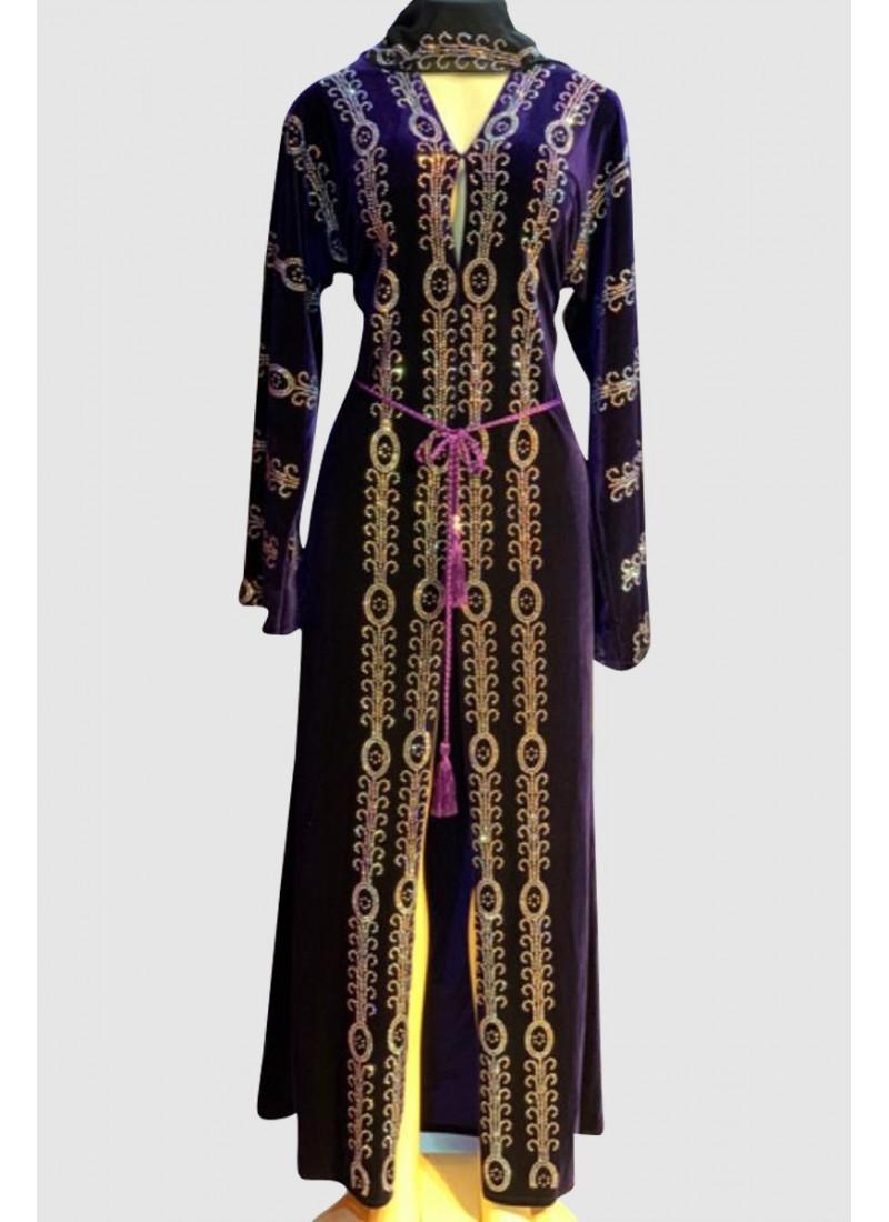 Classy Crystal Velvet Abaya