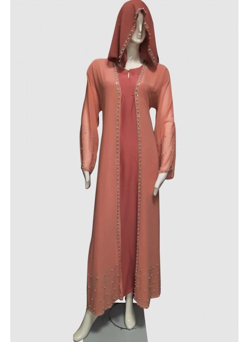 Fancy Dubai Abaya (3 Pieces Set)