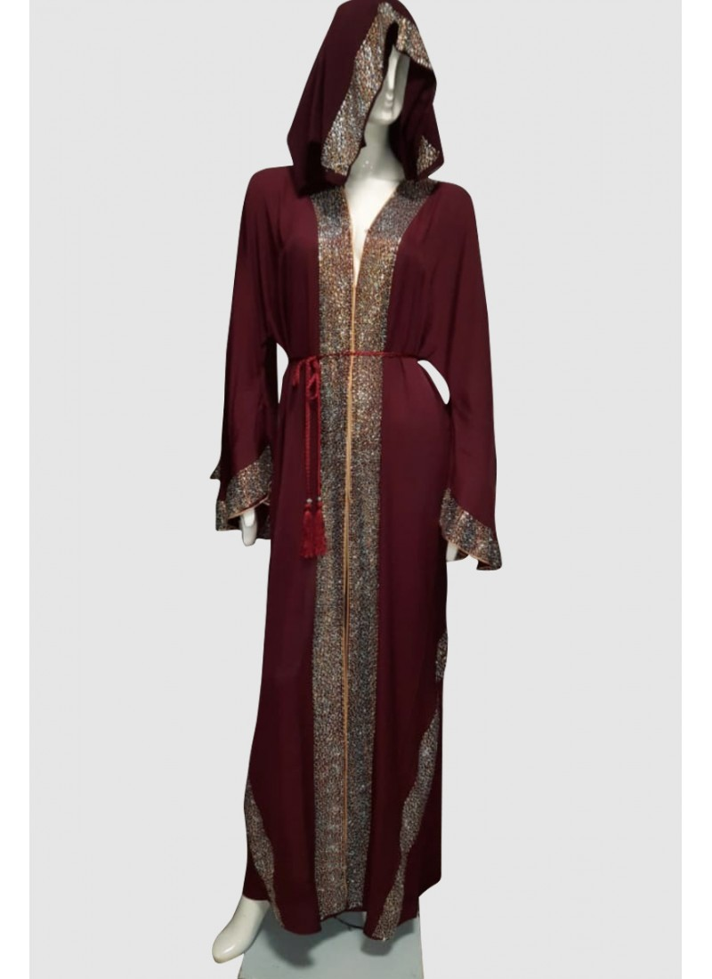 Dahlia Fran-sic Sleeve Abaya (3 Pieces Set)