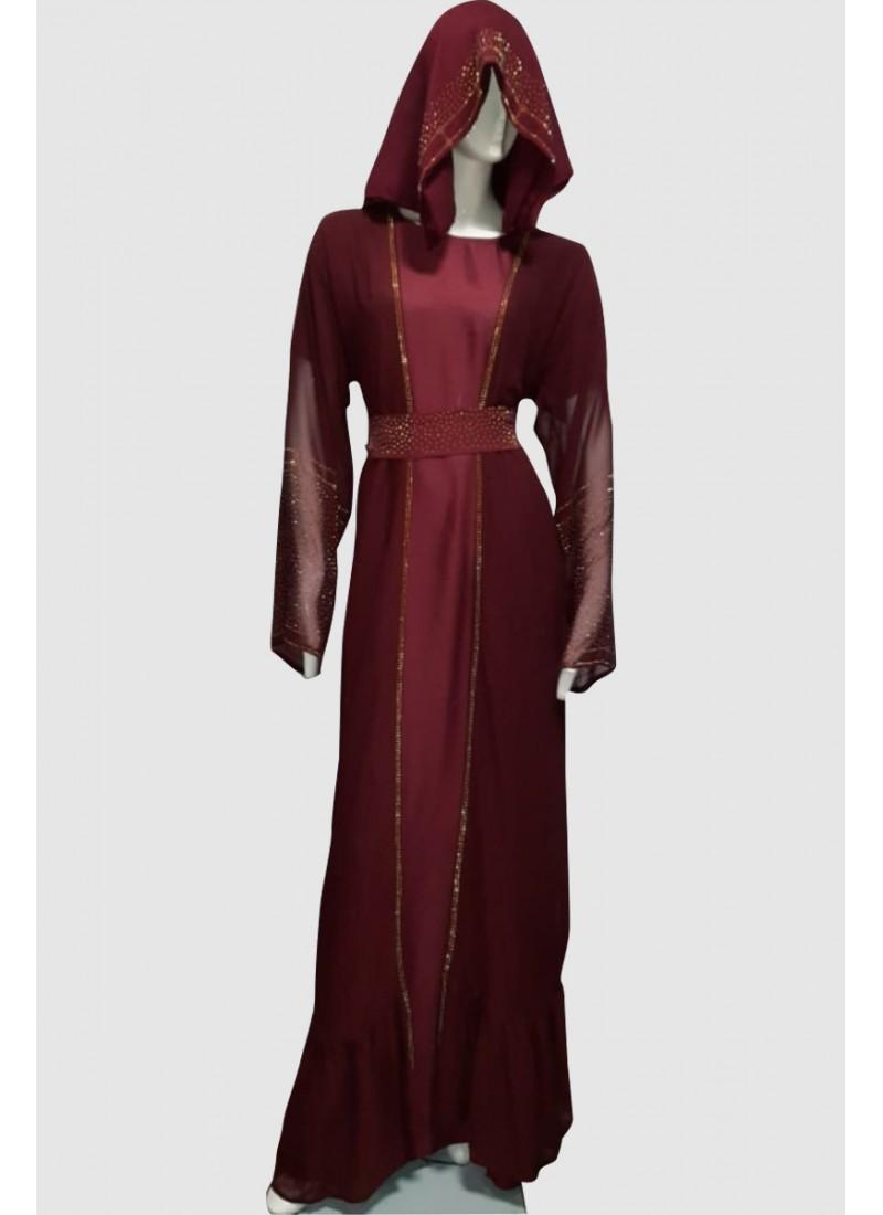 French Modest Abaya (3 Pieces Set)