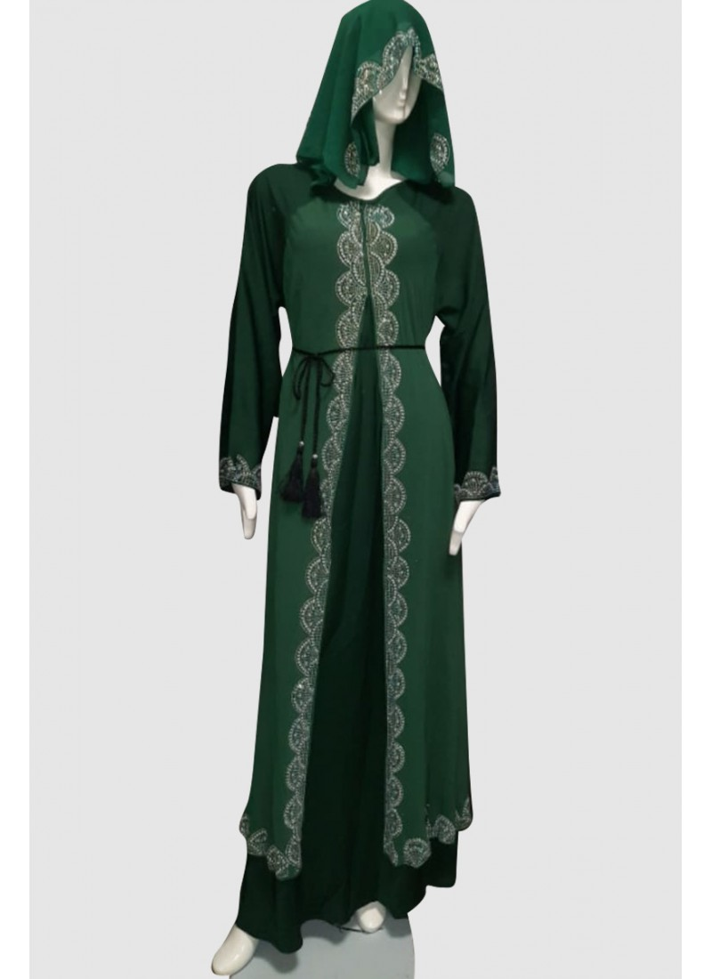 Fancy Modest Abaya (3 Pieces Set)