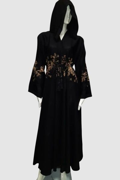 Sophisticated Flower Abaya (3 Pieces Set)