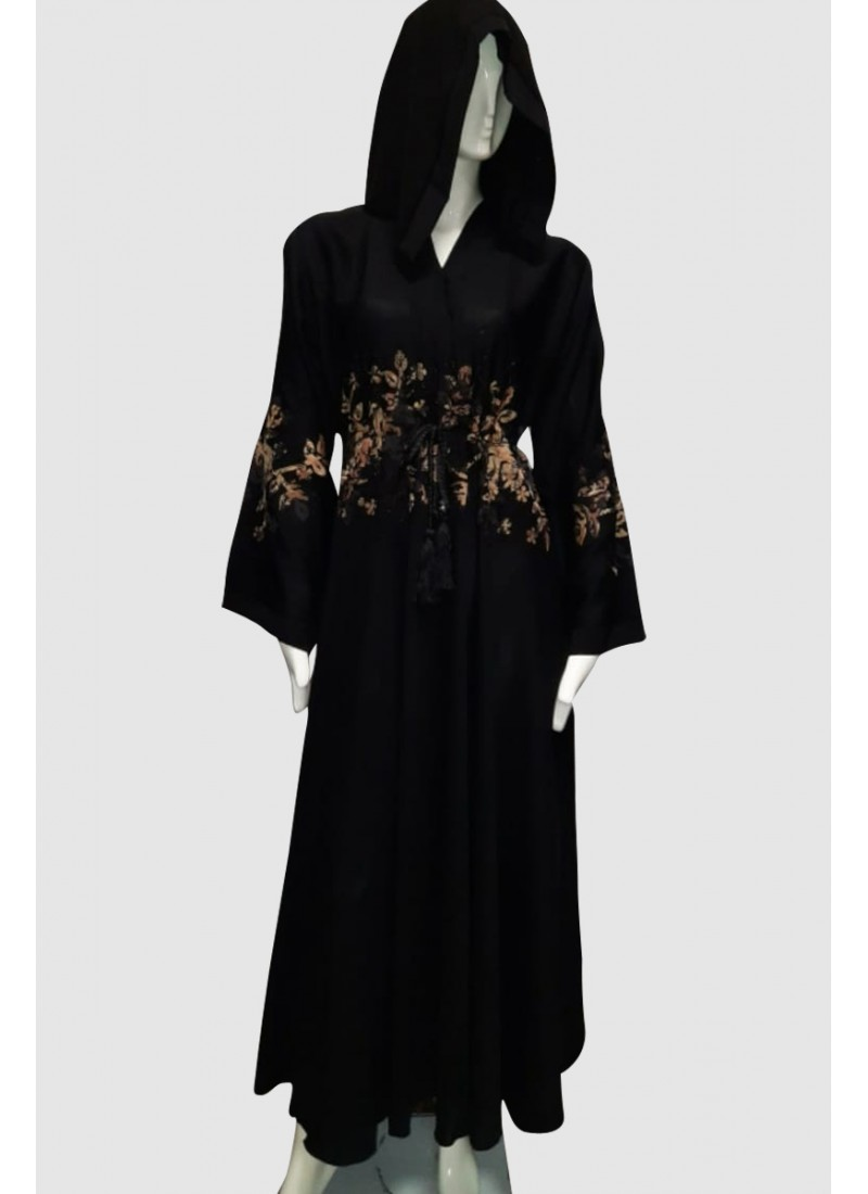 Sophisticated Flower Abaya (3 Pieces Set)