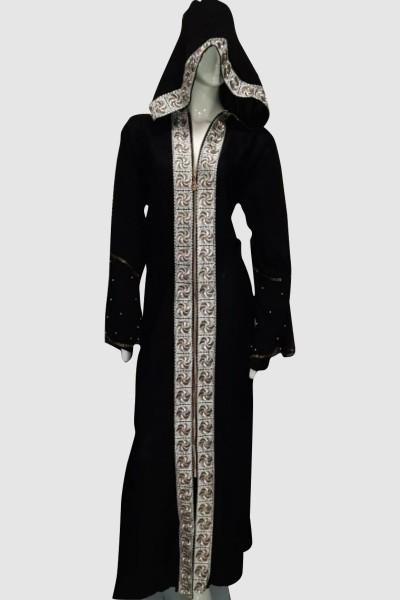 Hoodie Zipper Abaya (3 Pieces Set)