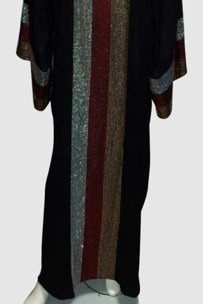 Butterfly Crystal Abaya (3 Pieces Set)