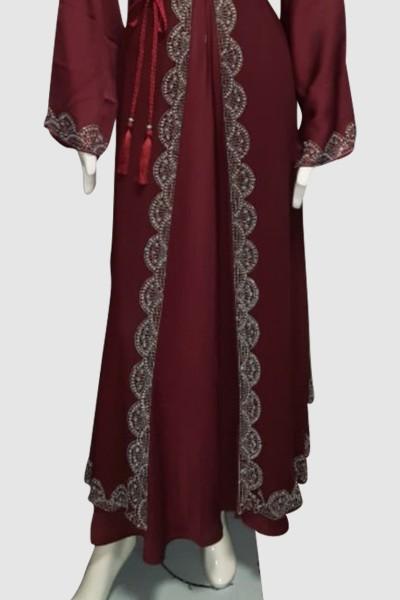 Trendy Stylish Abaya (3 Pieces Set)