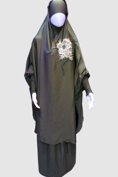 Flower Lace Islamic Pray Abaya