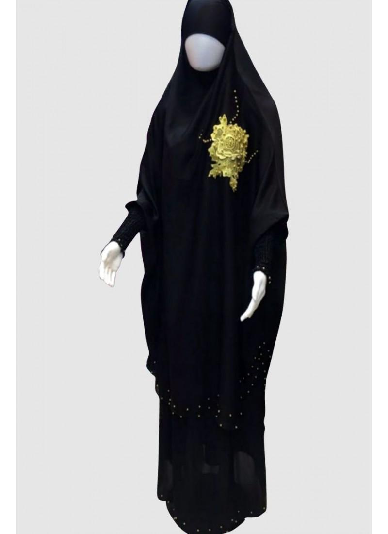 Modest Black Islamic Pray Abaya