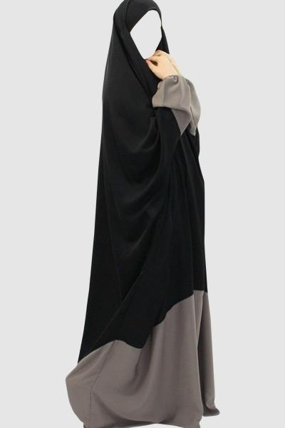 Classy Color Pray Abaya (6 Pieces Set)
