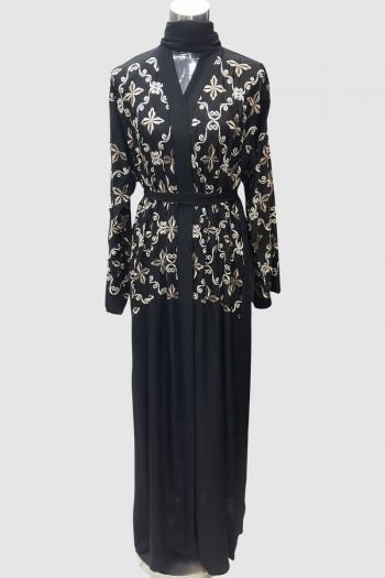 Modest Fancy Embroidery Abaya