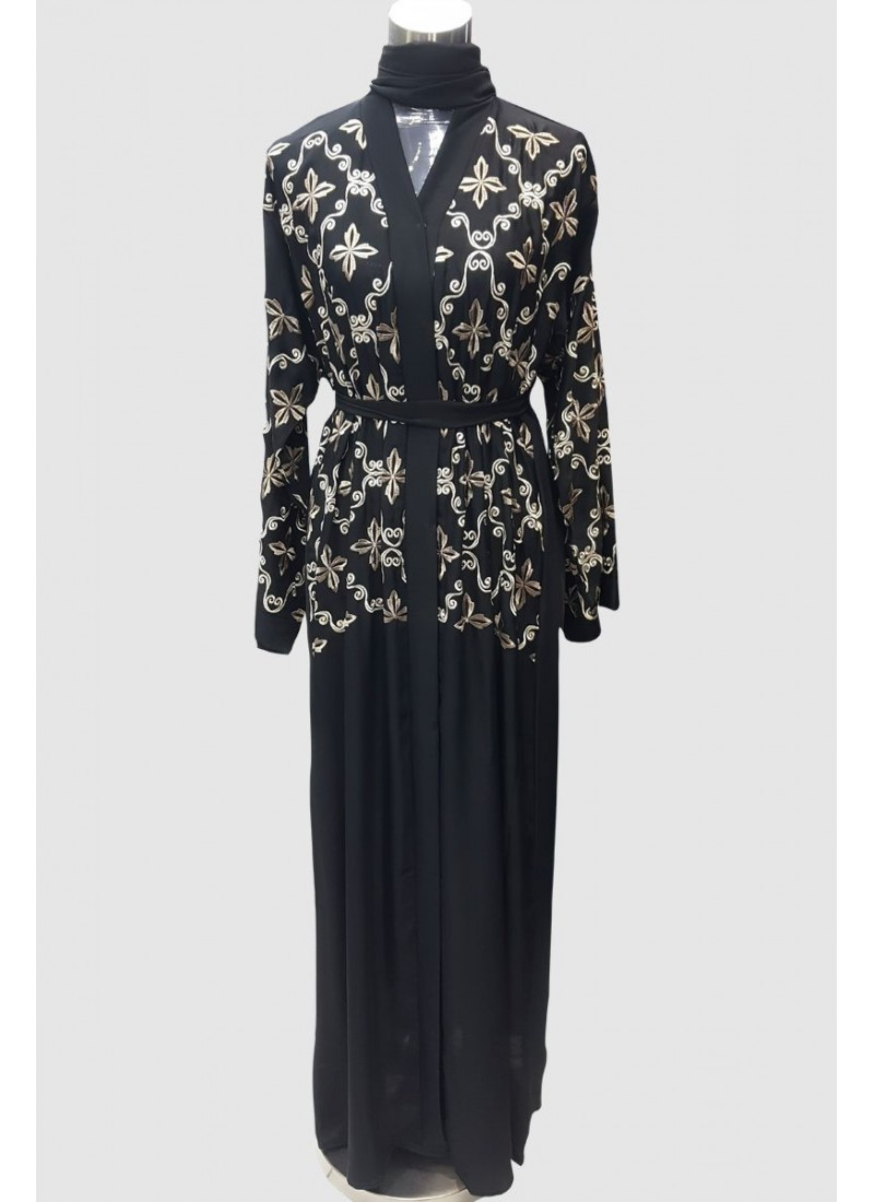 Modest Fancy Embroidery Abaya