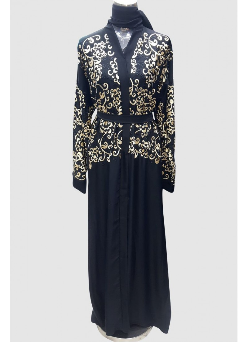 Trendy Embroidery Abaya