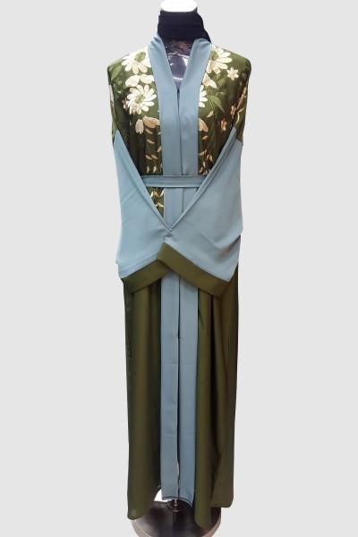 Sabah Fancy Embroidery Abaya