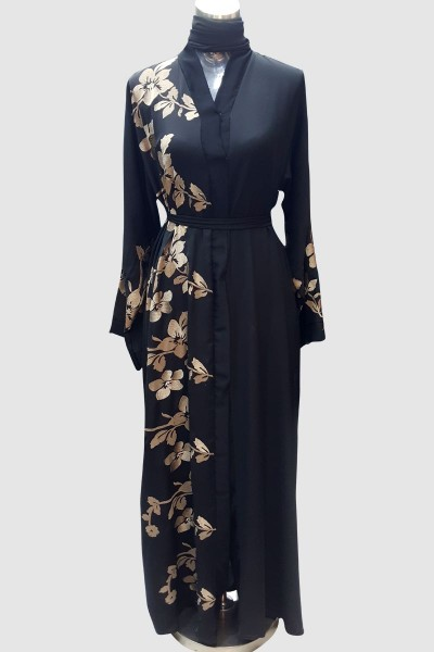 Sophisticated Embroidery Abaya