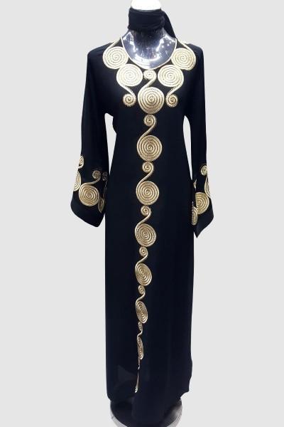 Golden Aari Work Abaya